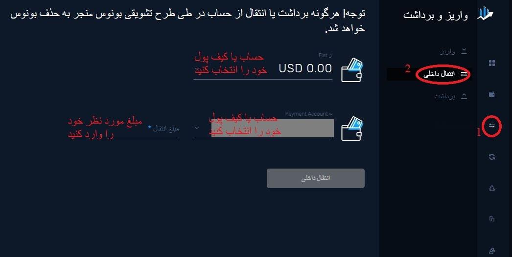 انتقال داخلی پول در کپیتال اکستند